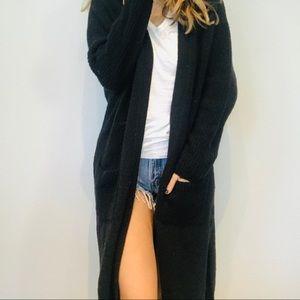 NWOT Express black chunky oversized long cardigan